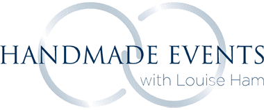 Handmade Events Louise Lou Ham logo for Home Weddings website in South West France